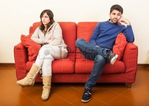 marriage counseling: couple after arguing